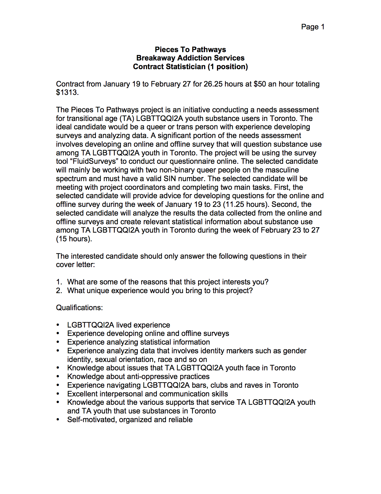 statistician cover letter Below is an example of a strong cover letter for a statistician applicant for help with your resume, check out our extensive statistician resume samples.