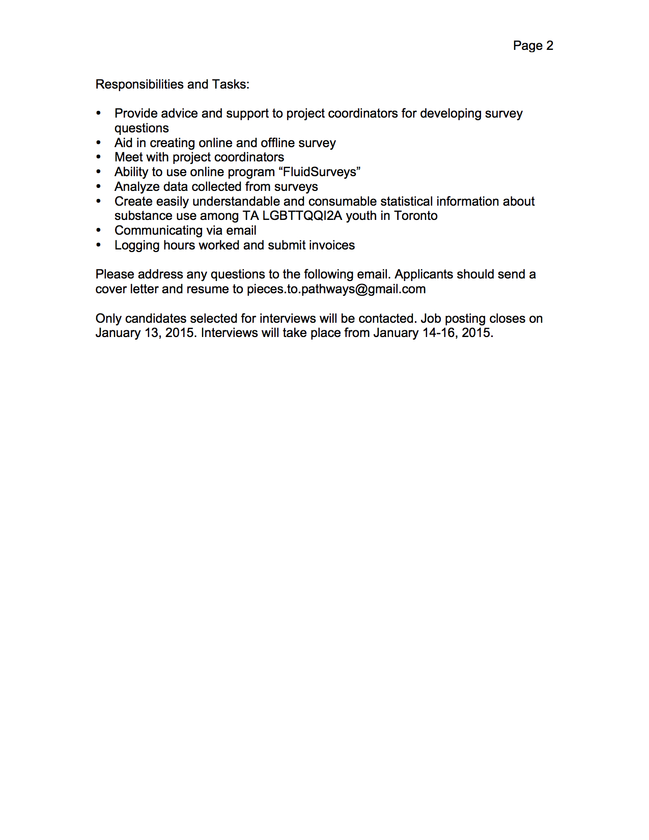 job posting pieces to pathways contract statistician 1 pieces to pathways contract statistician 1 position page 2