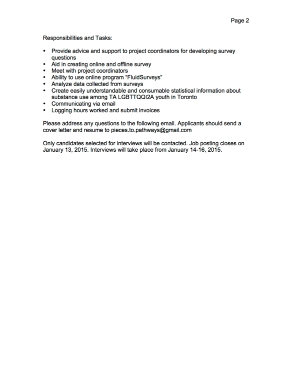 Pieces To Pathways Contract Statistician (1 position) page 2