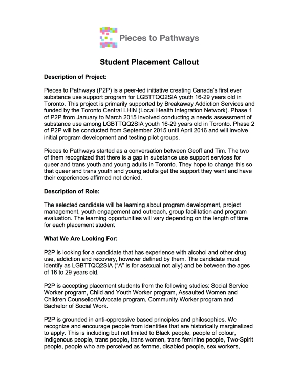 Pieces to Pathways Student Placement Callout 1