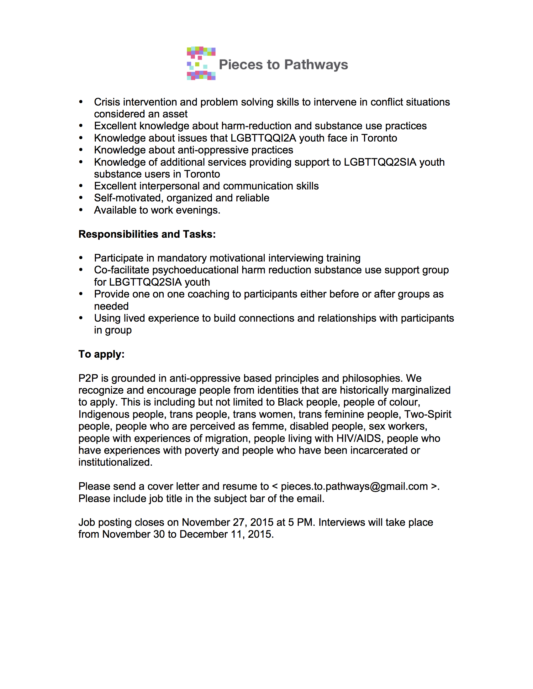 Jobs Comes Under Group 2 Pieces To Pathways Contract Harm Reduction Group Facilitator