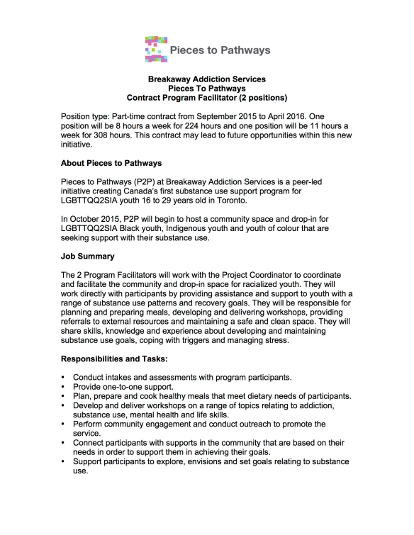 Pieces To Pathways Contract Program Facilitator 1